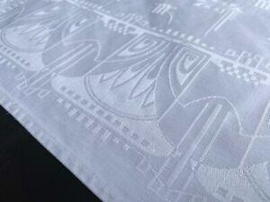 Tafelserviette weisser Baumwolldamast Entwurf ? um 1912
