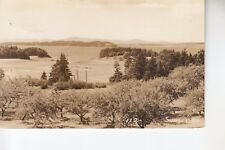 Penobscot Real Photo Postcard Eagle Island from the Orchard at  Sunset  ME   112