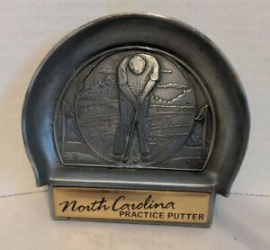 North Carolina Practice Putter Office Golf Ball Target Catch Dish