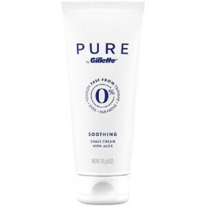 PURE by Gillette Soothing Premium Shave Cream With Aloe 6 FL OZ TUBE NEW ITEM