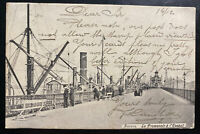 1912 Antwerp Belgium RPPC Postcard Cover to Palmerston New Zealand