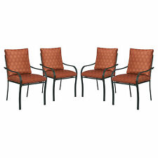 Patio Chairs Set Of 4 Outdoor Dining Chairs Garden Lounge Furniture With Cushion