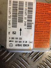 2001 W168 MERCEDES BENZ A CLASS A140 ECU Modulo Controllo 0285001222 0018203126