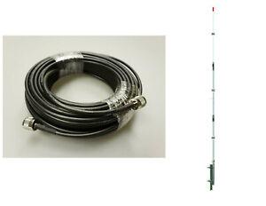 PT99 PROCOMM PROTON CB,HAM BASE ANTENNA & 50' LMR240 Type RG8X COAX CABLE