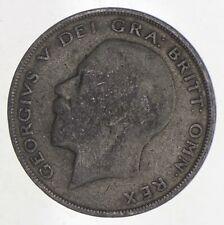 SILVER - WORLD Coin - 1921 Great Britain 1/2 Crown - World Silver Coin *917