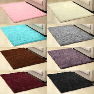 Fluffy Rugs Anti-Skid Shaggy Area Rug Living Room Bedroom Floor Mat Carpet 6Size