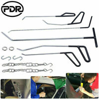 12Pc PDR Spring Steel Hook Rods Kit Paintless Dent Removal Car Hail Repair Tools