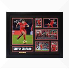 Steven Gerrard Signed & Framed Memorabilia - Black/Red - Limited Edition