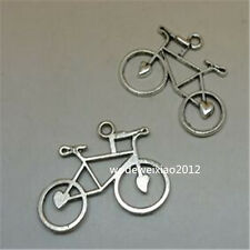 12pc Retro Tibetan Silver bicycle Charm Beads Pendant accessories Findings JP581