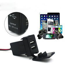 Car 12V 24V To 5V 3.1A Dual USB Ports Dashboard Mount Charger For TOYOTA Hottest