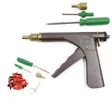 Tire Inflator Tubeless Tire Wheel Repair Gun Kit+Plugs Rubber Plugging with Box