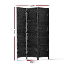 Artiss 3 Panel Room Divider - Black