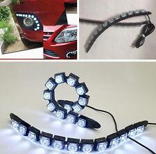 2x Flexible 12 LED DRL Daytime Running Driving Daylight Fog Light Lamp For Audi