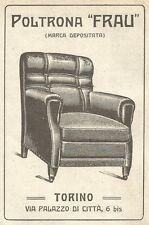 W9190 Poltrona FRAU - Torino - Pubblicità del 1923 - Vintage advertising