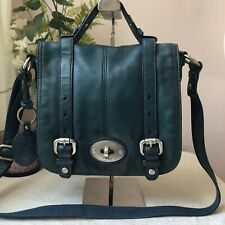 FOSSIL MADDOX LEATHER FOREST GREEN SATCHEL HOBO SADDLE MESSENGER BAG RRP £129