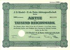 J. D. Riedel - E. de Haen AG 1000 RM 1942 Berlin