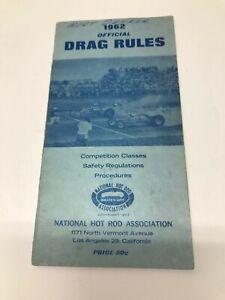 VINTAGE 1962 NHRA OFFICIAL DRAG RULES