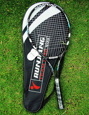New 1X Black Top Quality high-strength Aluminium Alloy Tennis Racquet 4 3/8 Bag