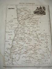 FRANCE PITTORESQUE / CARTE DU DÉPARTEMENT DE LA DROME 1835