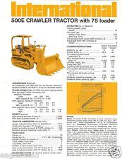 Equipment Brochure - International - IH 500E Crawler Tractor w 75 Loader (EB271)