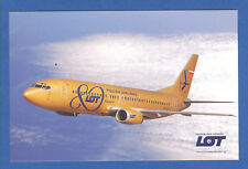 LOT Polish Airlines Postcard Boeing 737-400