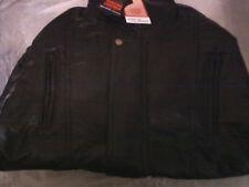 Brand New Genuine Unisex Lambskin Leather Jacket--Black XL