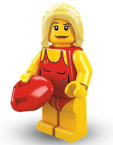 Unopened LEGO® SERIES 2 -8684-Life Guard-minifigure (#8) Sealed Foil Pouch
