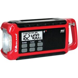 Midland ER210 E+ Ready Compact Emergency Crank Weather Radio New Ships Fast