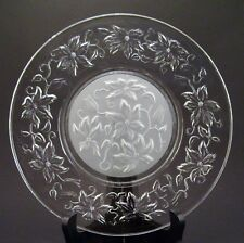"""Princess House Crystal Fantasia 8"""" Luncheon Plate ~ Frosted Center ~ 4 Available"""