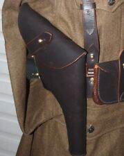 WW1 WEBLEY OFFICERS HOLSTER - REVOLVER LEATHER 1903 PATTERN CLOSED TOP REPRO