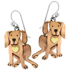 Cocoa Retriever Dog Dangle Earrings Sterling Silver Far Fetched Chocolate Lab