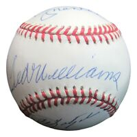Triple Crown Signed Baseball Mantle Williams Yaz Robinson Autographed UDA W/Case