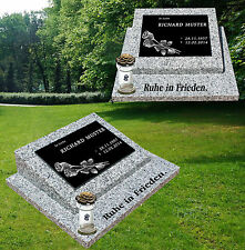 Grabsteine /GRANIT POLIERT/, Urnengrab Grabmal inkl. Inschrift, Motiv und Kerze