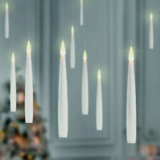 Set of 10 Remote Controlled Floating Candles Warm White Christmas Lights