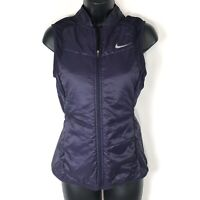 Nike Womens XS Gilet Vest Purple Dri-Fit Polyfill Sleeveless Running Packable