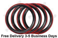 "13"" Black&Red Portawall Tyre insert Trim Set. Mercedes Porsche Free Ship Via DHL"