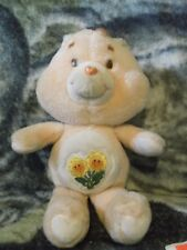 "13"" 1983 Peach Friend Care Bear  Sunflowers motif"