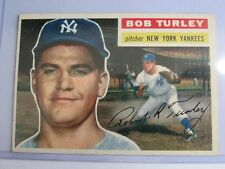 1956 TOPPS NO. 40 BOB TURLEY N.Y. YANKEE Nice Item BC#5 TN