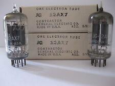 PAIR 12AX7  tube - ECC83 - JAN GE - NOS/NIB 1952 - D getter- LP- STRONG VALUES