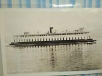 VINTAGE PHOTO POST CARD FERRY ENATAI WASHINGTON STATE FERRIES SEATTLE WA