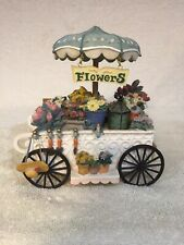 "Flower Cart, Umbrella - San Francisco Music Box Co.- Plays ""Somewhere In Time."""