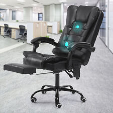 Massage Ergonomic Office Chair Racer Gaming Chair Computer Desk Seat Task Chairs