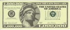 U.S. Million Dollar Bill - Lady Liberty series 2001, Serial number B03231025A