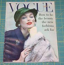 September Vogue 1956 Rare Vintage Vanity Fair Fashion Design Collection Magazine