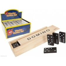 Dominoes Game Play Set In Wooden Box - 28 Slide Kids Childrens Classic Fun Toy