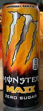 NEW MONSTER MAXX ZERO SUGAR MANGO MATIC ENERGY DRINK 12 FL OZ FULL CAN BUY ITNOW