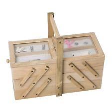 Nähkasten Nähkästchen Nähbox Natur Nähkorb Holz Handarbeit Vintage Shabby