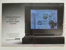 12/1990 PUB COMPAQ COMPUTER PC ORDINATEUR PORTABLE ORIGINAL AD