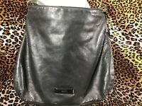👜  DKNY Donna Karen New York Black Leather Crossbody Or Shoulder Purse