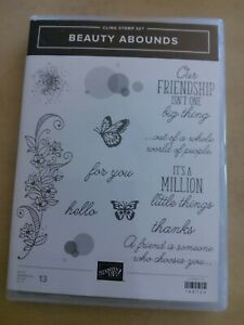 Stampin' Up Cling Stamp Set, Beauty Abounds NEW(13)